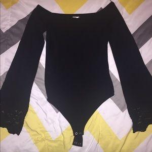 Express Bell Sleeve Bodysuit, Size XS